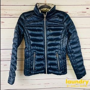 Laundry by Shelli SEGAL Navy Down Winter Jacket